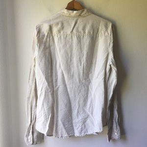 J. Crew Tops - J. Crew Tall Perfect Shirt Cotton-linen Crosshatch